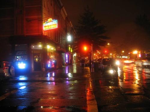 Night Shot -or-  Rainy Night in Brooklyn NY