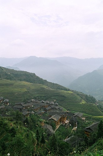 Ping'an village from above