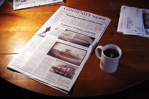 Local newspapers are a good source of information - CC Image courtesy of Matt Callow