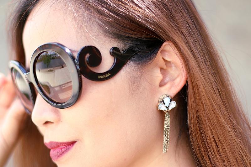 Prada-baroque-sunglasses-Perry-Street-fringe-earrings