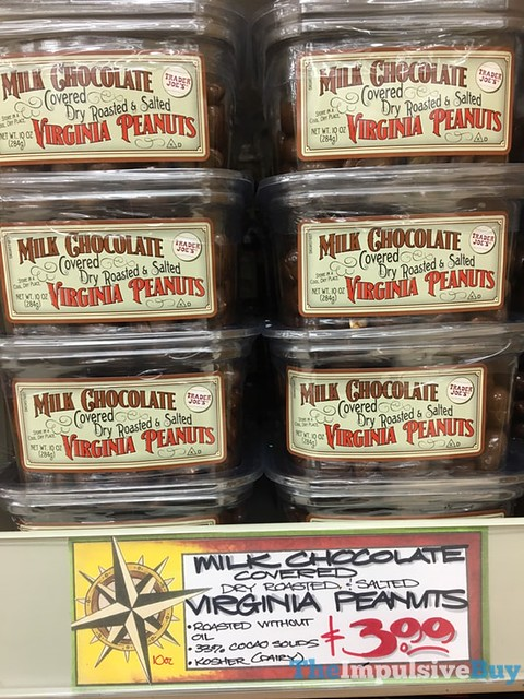 Trader Joe's Milk Chocolate Covered Dry Roasted & Salted Virginia Peanuts
