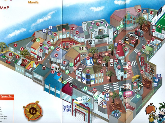 kidzania manila city map