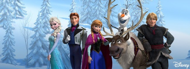 Cast of Frozen: Elsa, Hans, Anna, Sven, Olaf and Kristoff. (Credit: Walt Disney Studios)