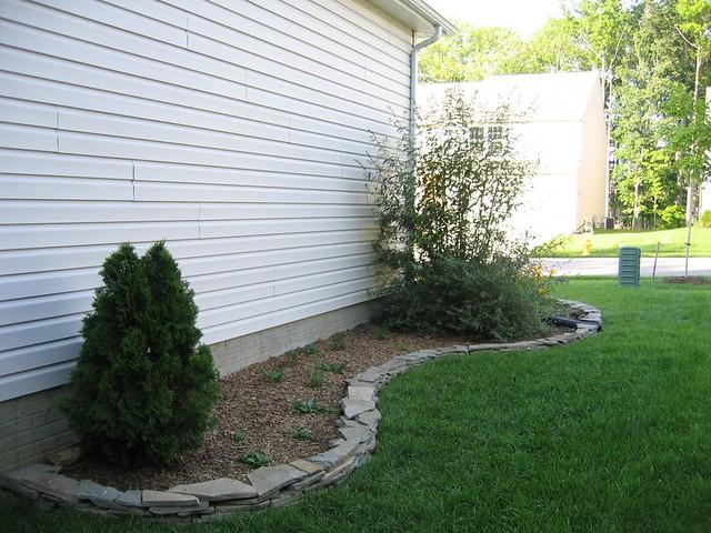 landscaping - garage side