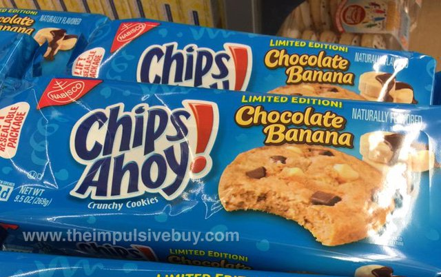 Nabisco Limited Edition Chocolate Banana Chips Ahoy Cookies