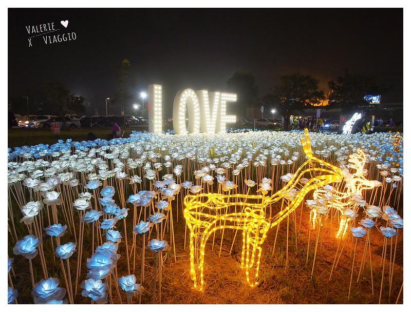 【屏東 Pingtung】2017屏東綵燈節萬年溪藝術裝置燈 LOVE與藍白玫瑰花燈海 @ 薇樂莉 ♥ Love Viaggio 微旅行 :: 痞客邦