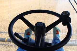 Autosteer is neat. And those are ice cream cones on my socks.
