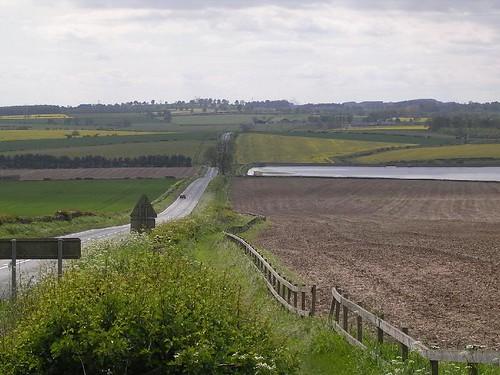 The Whittledene reservoirs from Harlow Hill