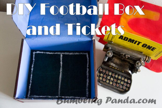 DIY Football Box and Tickets by BumblingPanda