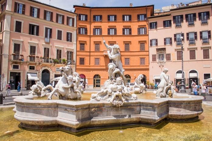 Fountain of Neptune, Piazza Navona Rome