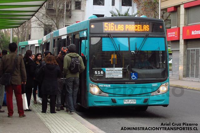 Transantiago - Metbus - Caio Mondego HA / Mercedes Benz (BJFJ28)