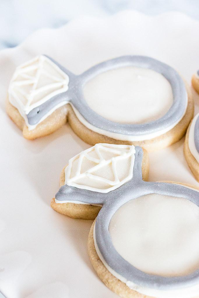 Diamond Ring Royal Icing Engagement Cookies Bake Love Give
