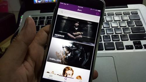 User Interface ของ HOOQ ในการเลือกหนัง