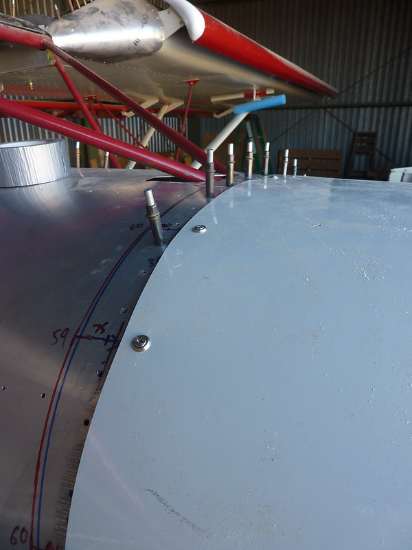 Installed top skybolts on fuselage