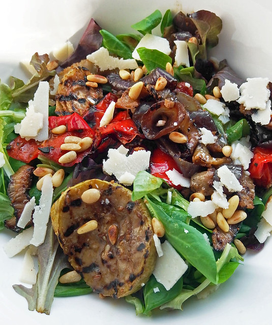 Leftover Grilled Vegetables Salad