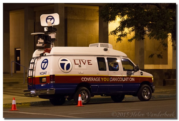 The KOAT News Van