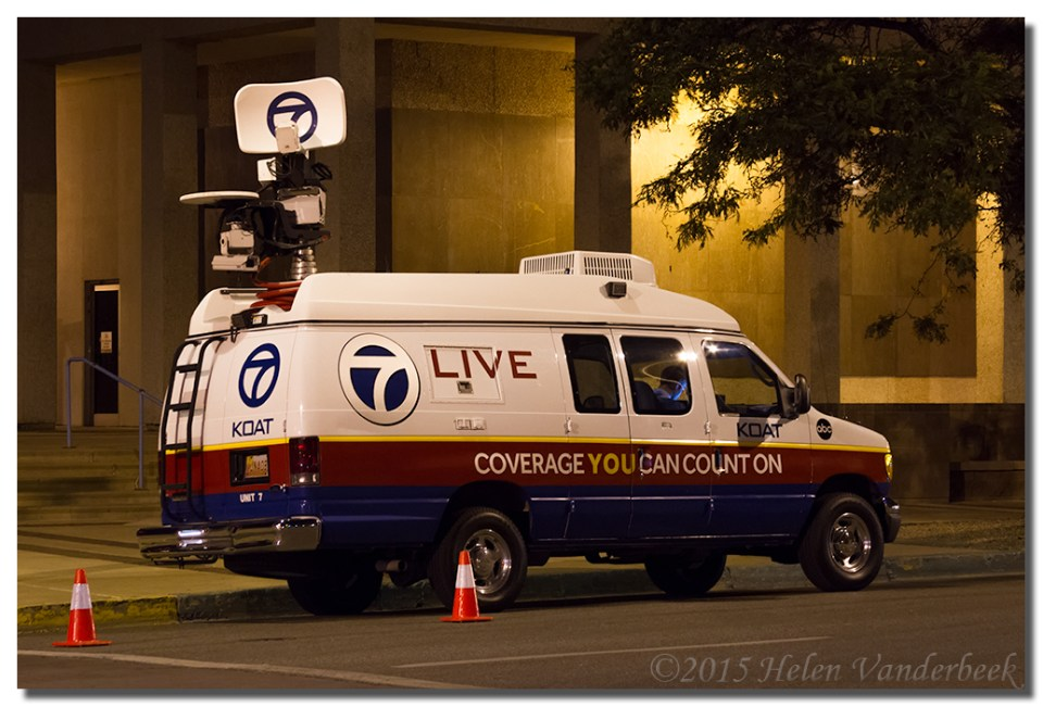 The KOAT News Van