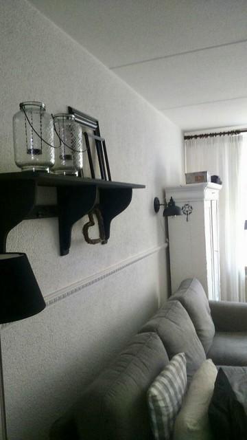 Landelijke woonkamer decoratie