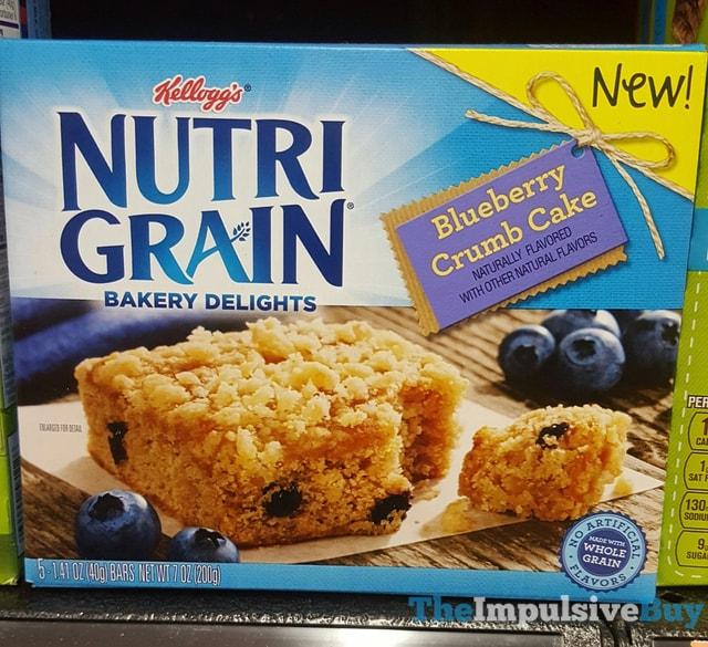 Kellogg's Nutrigrain Blueberry Crumb Cake Bakery Delights