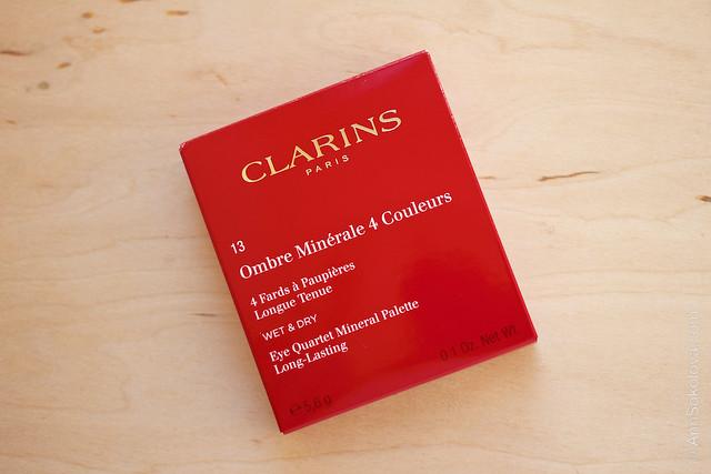 01 Clarins #13 Skin Tones Eye Quartet Mineral Palette Long Lasting Wet & Dry