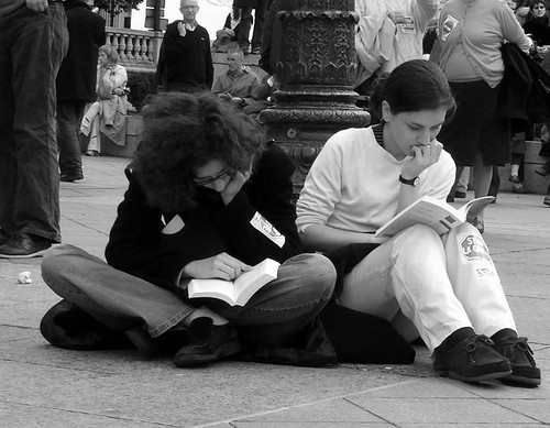 Reading at the demo 2