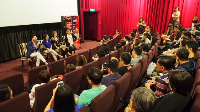 A keenly interested audience peppering the director and cast with questions.