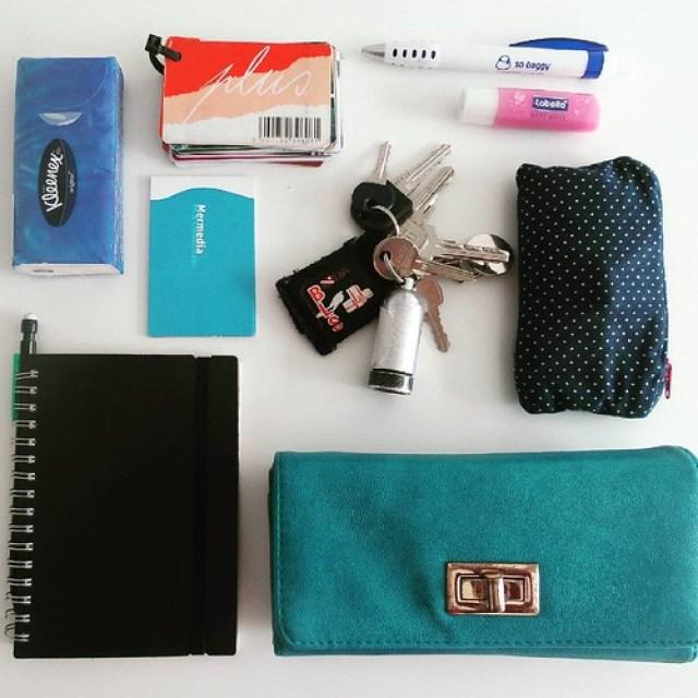 What's in my bag, minimalistische handtas.