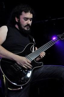Chris Polin of Sorrowfall live at Limelight 2, Belfast, 8 August 2015