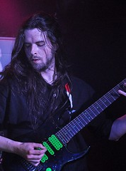 Conor McGouran of Xerath live at Voodoo, Belfast, 2 August 2015