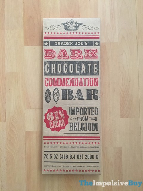 Trader Joe's Dark Chocolate Commendation Bar