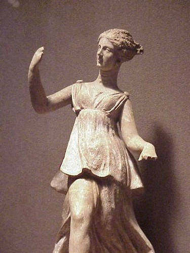Terracotta figurine of a Greek goddess Nike Tanagra
