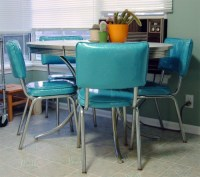 """My """"New"""" 50's Diner Table and Chairs 