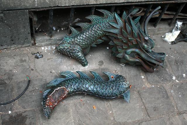 The dragon broke