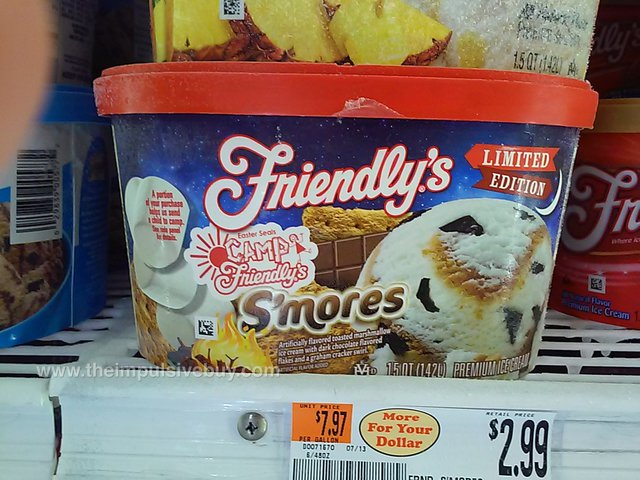 Friendly's Limited Edition S'mores Premium Ice Cream