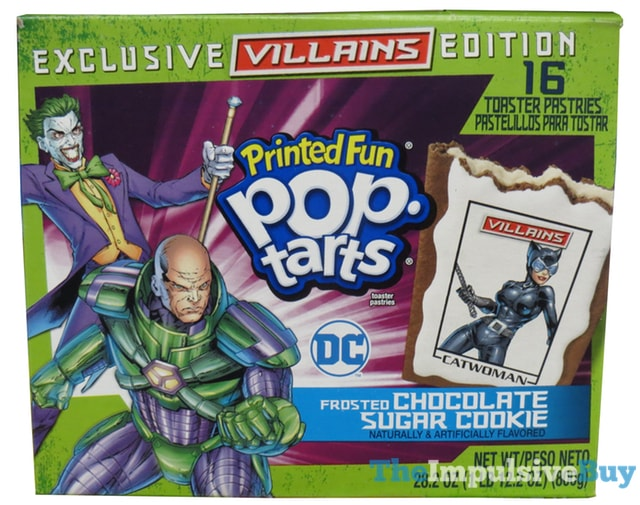 Exclusive Villains Edition Frosted Chocolate Sugar Cookie Printed Fun Pop-Tarts