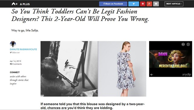 2-year-old fashion designer
