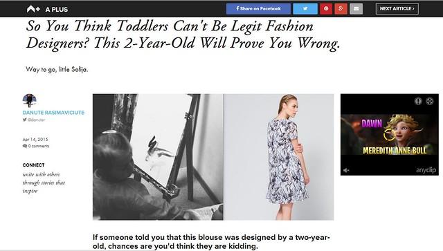 2-year-old fashion designer