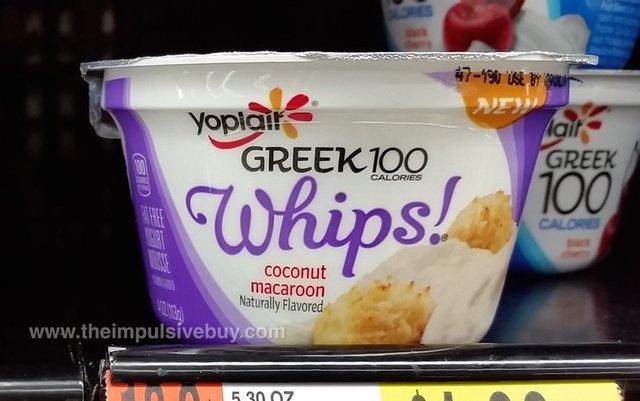 Yoplait Greek 100 Whips Coconut Macaroon Yogurt
