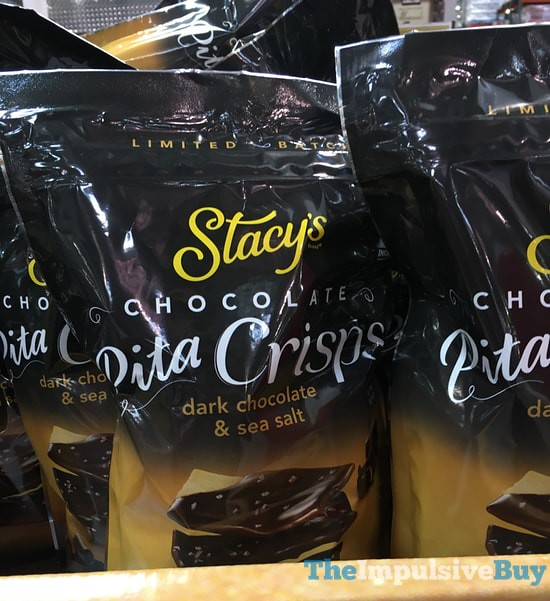 Limited Edition Stacy's Pita Crisps Dipped in Dark Chocolate & Sea Salt