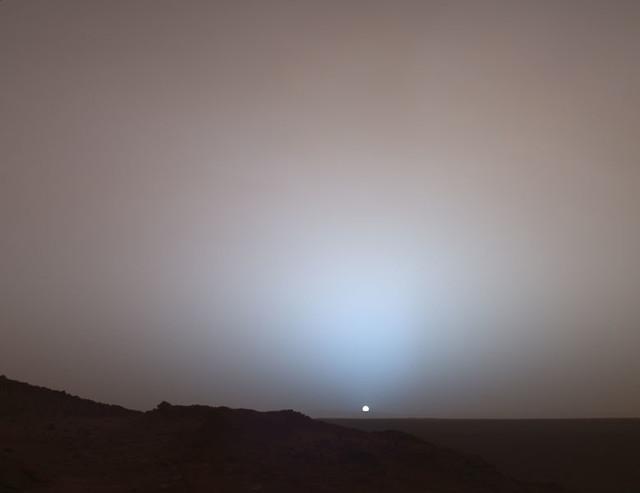 Sonnenuntergang auf dem Mars / Mars Sunset