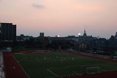 sunset + football