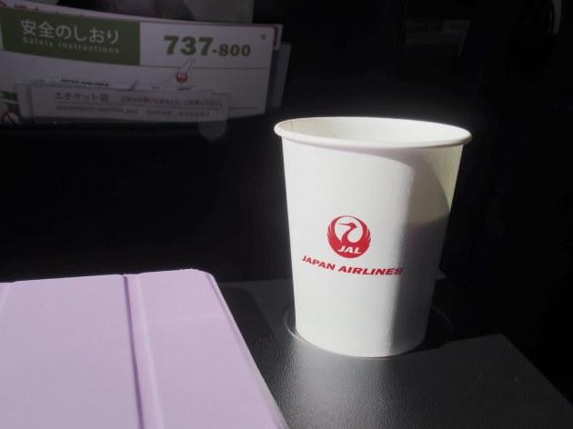 JALの機内で飲むおいしいコーヒー