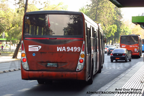 Transantiago - Express de Santiago Uno - Marcopolo Gran Viale / Volvo (WA9499)