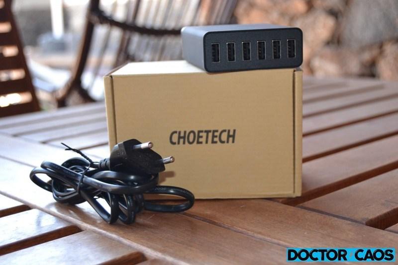 CHOETECH 6 Port Multi USB Charger  (1)