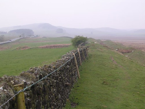 Between wall and ditch with Milecastle 33 in sight