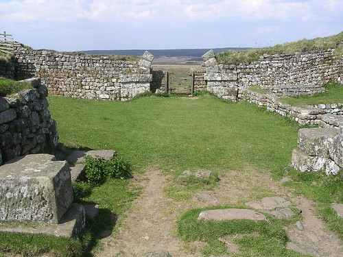 The interior and north gate of Milecastle 37