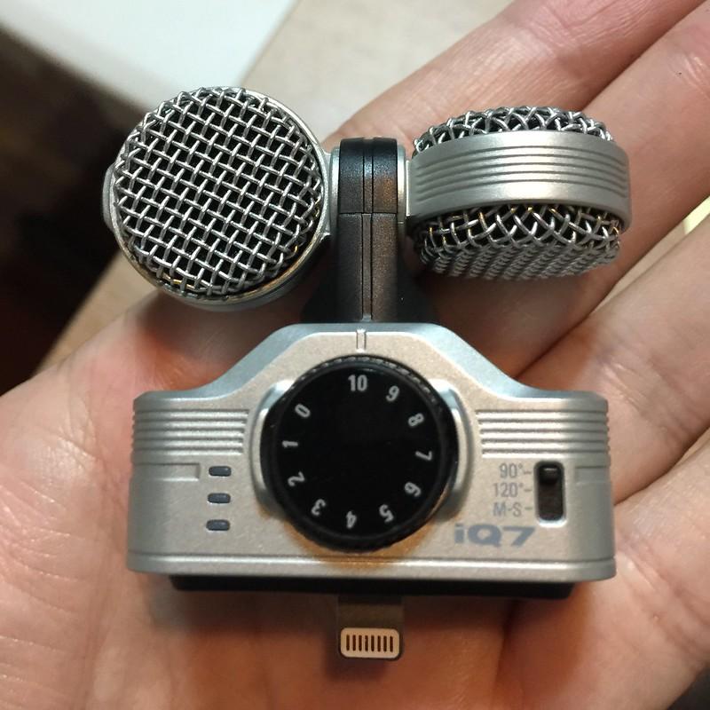 iPhone 手機錄音的良伴 Zoom iQ7 (樂天購入)