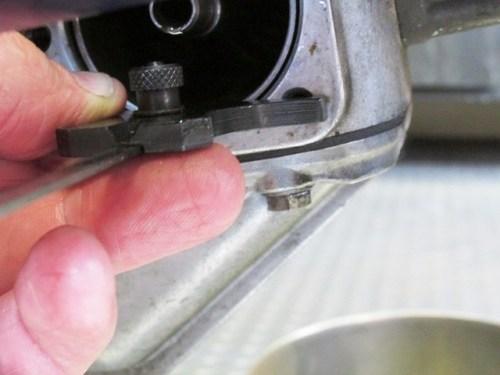 Keep Depth Gauge Parallel to Engine Block When Measuring