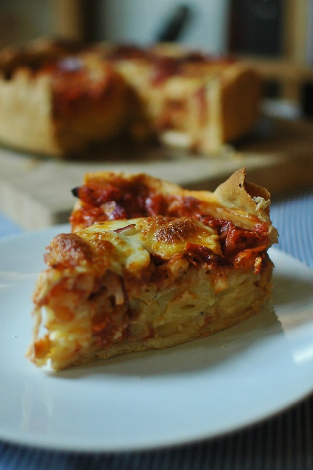 Mac N Cheese Pizza Pie