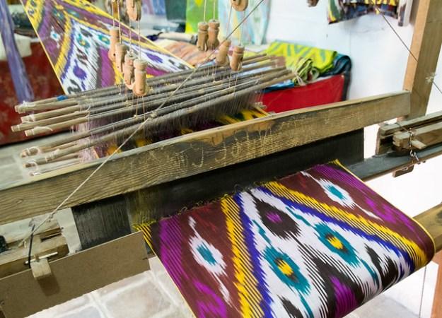 Ikat weaving, Bukhara